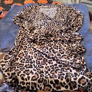 Leopard print banana republic dress size m